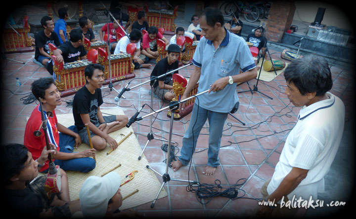 Recording CD Gamelan Cendana with Ni Ketut Arini