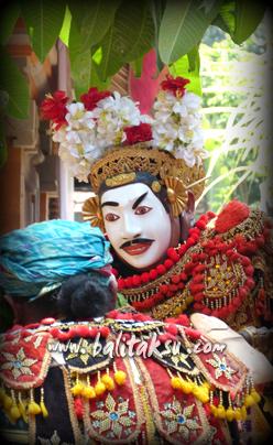 バリ島の面白い仮面