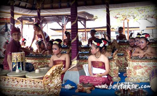 Hari Raya Nyepi Ngayah Gamelan, Pura Agung Peliatan Temple, Tunas Maragawi