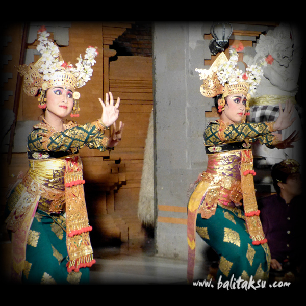 Debut Legong Lasem Dance at Gunung Sari Performance