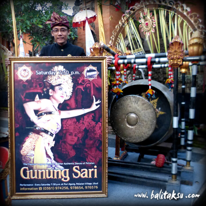 The Signboard of Gunung Sari Performance