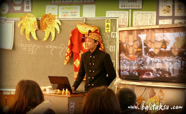 福岡のバリ舞踊・糸島市 長糸小・六年生対象の授業 糸島でバリガムラン演奏家