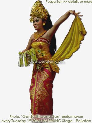 Tari Puspa Sari Dance バリ舞踊ウェルカムダンスのプシュパサリ
