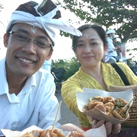 ティルタ・ヤトラ バリ島聖地巡行の旅路  Tirta Yatra Bali, BR.Kalah Peliatan Ubud