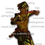 Costume Balinese Danca - pakaian tari Truna Jaya タルナ・ジャヤ 衣装図解