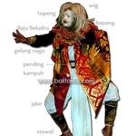 Costume Balinese Danca - pakaian tari Topeng Tua トペン トゥア 衣装図解