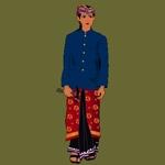 Costume Balinese Musician - pakaian Penabuh Gamelan バリ ガムラン奏者 演奏者の衣装図解